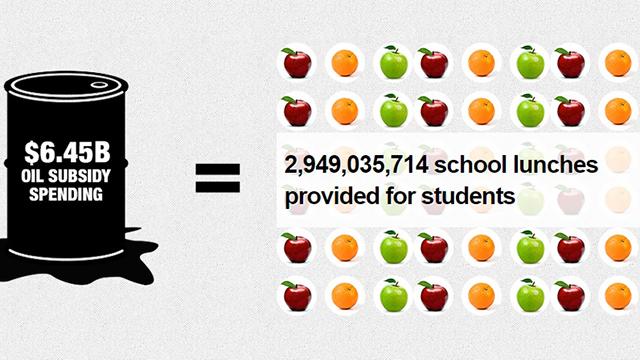 Screenshot from Fossil Fuel Subsidies Tradeoff Calculator.