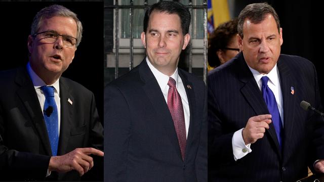 Jeb Bush, Scott Walker and Chris Christie