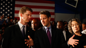 Defending Lenders: HUD Secretary Shaun Donovan and Treasury Secretary Tim Geithner, with dissenter Sheila Bair of the FDIC. (AP Photo/Gerald Herbert)