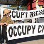 occupy chevron in Richmond, California