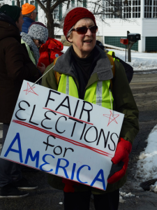 Protester at the New Hampshire Rebellion, an initiative that aims to raise awareness on the need for campaign finance reform. (Photo: Bettina Neuefeind/flickr CC 2.0)