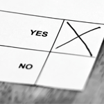 yes or no voting paper