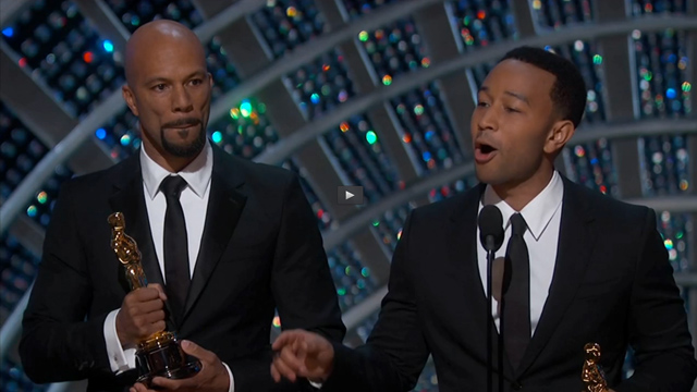 John Legend and Common giving acceptance speech