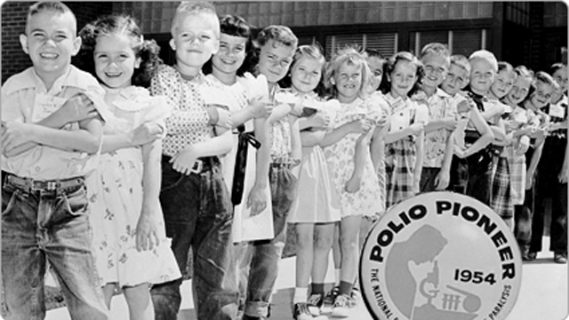 In 1954, 1.8 million children participated in the Salk polio vaccine trials. (Photo: March of Dimes)