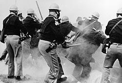 Police attack civil-rights demonstrators at Selma