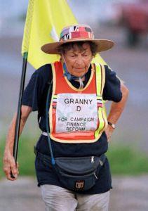 Granny D walking