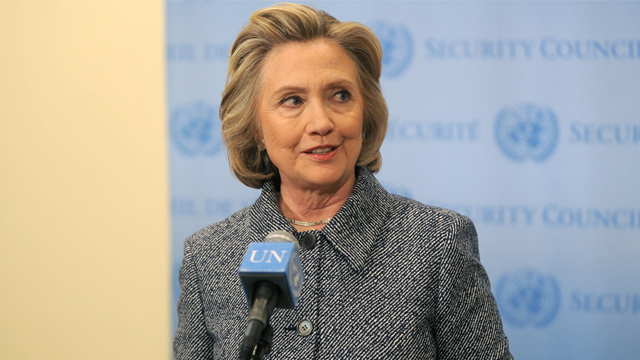Photo by: Dennis Van Tine/STAR MAX/IPx 3/10/15 Hillary Clinton at the Step It Up For Gender Equality event celebrating the 20th anniversary of the fourth World Conference On Women in Beijing at Hammerstein Ballroom. (NYC)