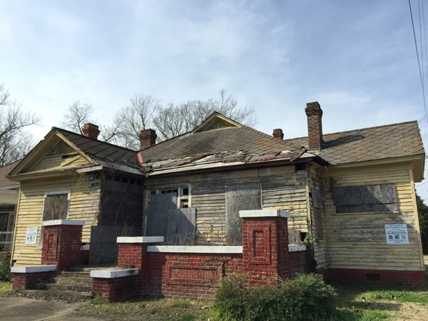 The now-dilapidated house of Amelia Boynton Robinson, where Frederick Reese wrote the letter inviting Martin Luther King to Selma. (Photo: Ari Berman)