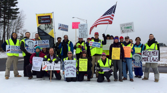 NH Rebellion walkers with signs
