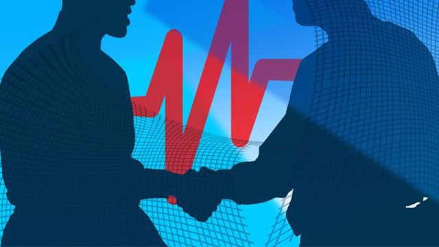 Business handshake graphic