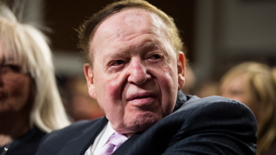 Sheldon Adelson, chairman and chief executive officer of the Las Vegas Sands Corporation, attends the forum featuring Nobel Peace laureate Elie Wiesel and Sen. Ted Cruz on guarding against a nuclear Iran on Monday, March 2, 2015, in the Dirksen Senate Office Building.