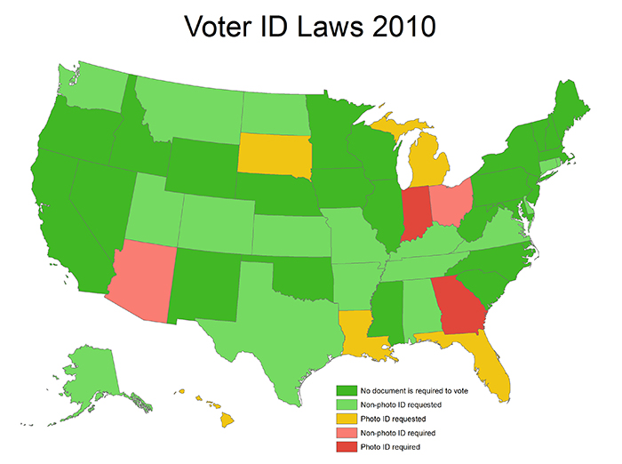 Voter ID laws 2010