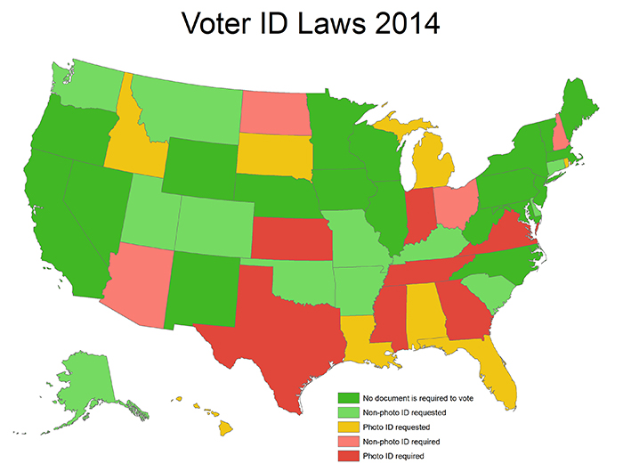 Voter ID laws 2014