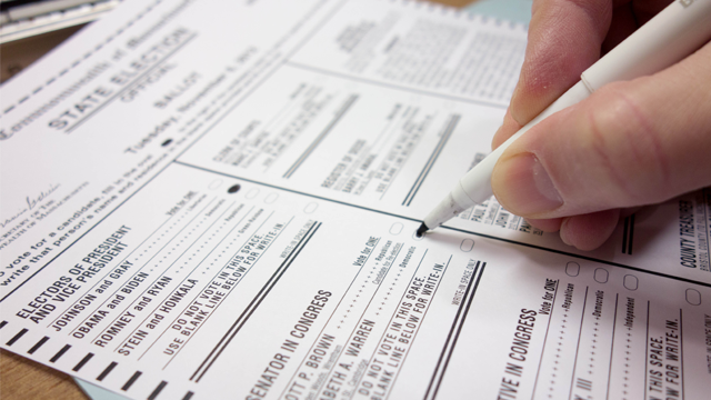 Voting Ballot paper
