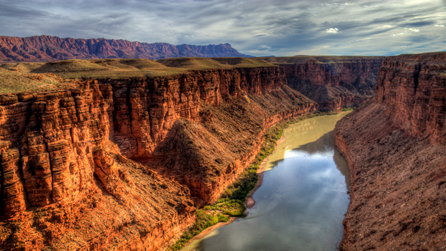 The Colorado River as seen from the Navajo Bridge, Arizona.