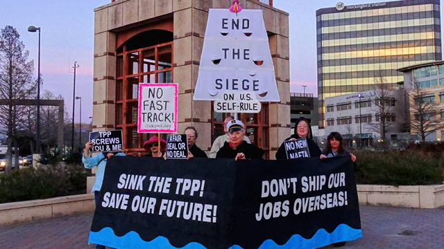 Fast Track protest