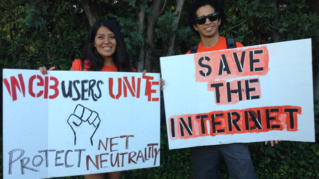 save the net protest