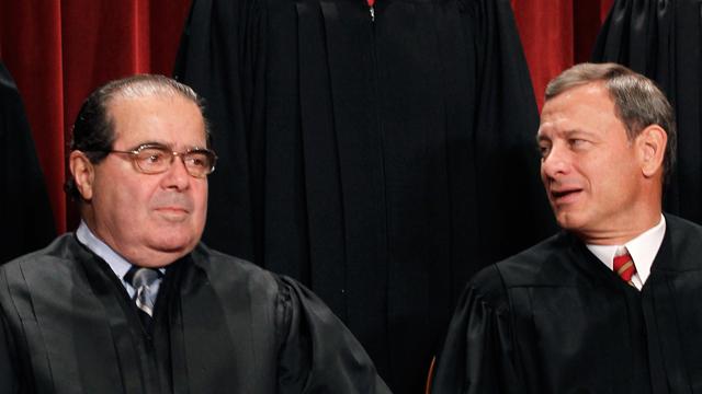 Supreme Court Justices Supreme Court Justices Antonin Scalia and John Roberts (Photo: AP)