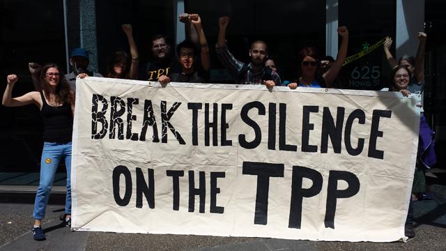 Stop the TPP protest (Photo: Backbone Campaign/flickr CC 2.0)