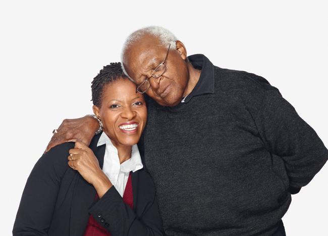 The Rev. Mpho Tutu and the Archbishop Desmond Tutu. Photo by Andrew Zuckerman.