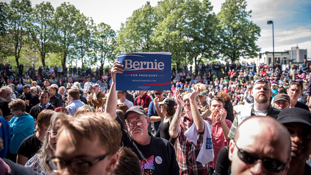 A recent Bernie Sanders rally in Minneapolis, MN. May 31, 2015 (Credit: Sanders for President Campaign)