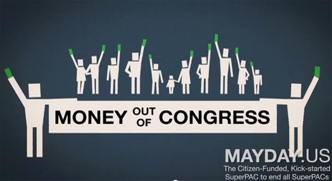 MayDay PAC video screenshot from YouTube