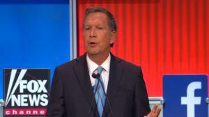 Screenshot of John Kasich discussing health care at the Fox News Republican debate on August 6, 2015.