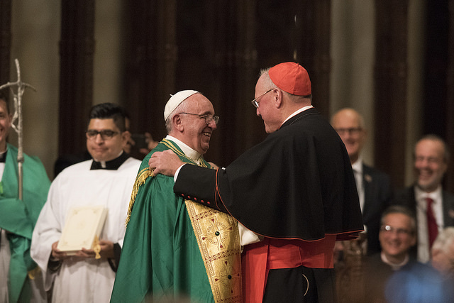 Pope Francis at Saint Patrick's Cathedral in NYC for Evening Prayer Vespers (CREDIT: Jeffrey Bruno)