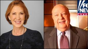 Presidential candidate Carly Fiorina and Fox News Roger Ailes.