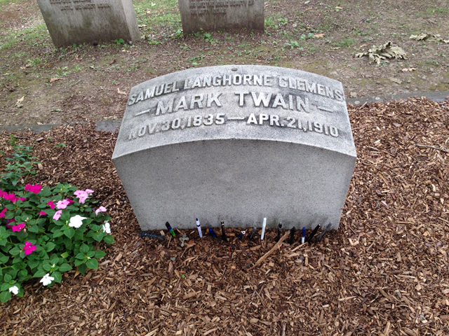Mark Twain's tombstone.