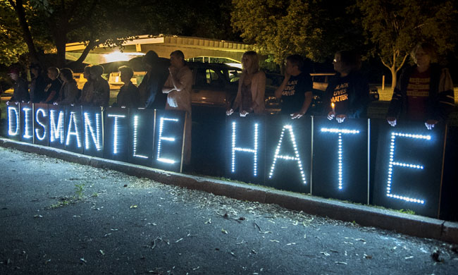 Madison candlelight vigil for victims of Charleston Church shooting on June 19, 2015.  (Credit: Lightbrigading / Flickr)