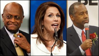 Herman Cain, Michelle Bachmann and Dr. Ben Carson.