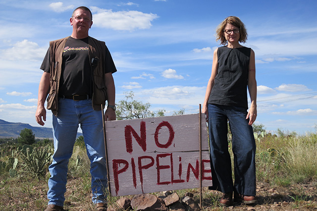 Coyne Gibson and Alyce Santoro are part of a grassroots resistance movement opposing a massive gas pipeline project between Mexico and the US. (Photo: Dahr Jamail)