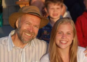 Dr. James Hansen with his granddaughter and Sophie. (Our Children's Trust)