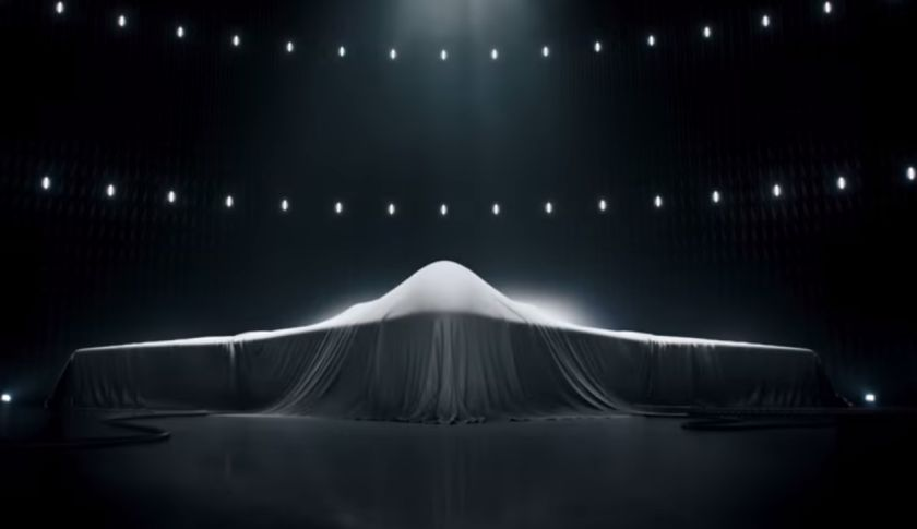 A Northrop Grumman ad aired during the Super Bowl teased at the defense contractor's design for the U.S. Air Forces Long-Range Strike Bomber program. Courtesy of Northrop Grumman/YouTube