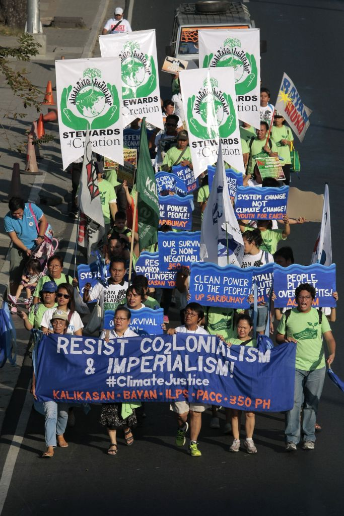 Climate protest in Manila, Philippines