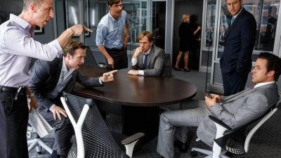 The 'Big Short' focuses on the traders who saw the storm coming. From left to right: Jeremy Strong, Rafe Spall, Hamish Linklater, Steve Carell, Jeffry Griffin and Ryan Gosling. Credit: Paramount Pictures