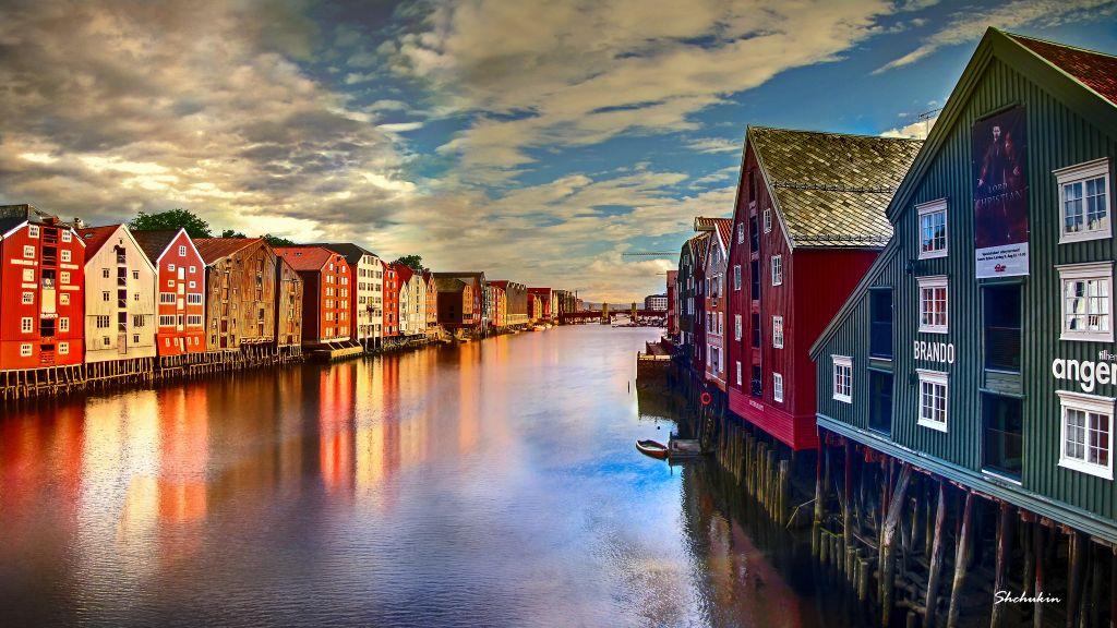 Nidelva river in Trondheim Explored, June 13, 2015. (Photo credit: lexander Shchukin, Flickr, cc 2.0)