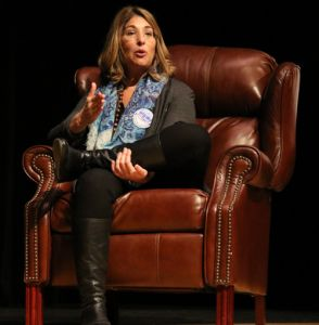 "Naomi Klein talks about ""We Are Seneca Lake"" activist organization in conversation with Michael Winship on January 29, 2016."