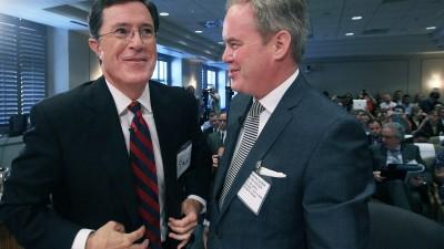 Trevor Potter and Stephen Colbert
