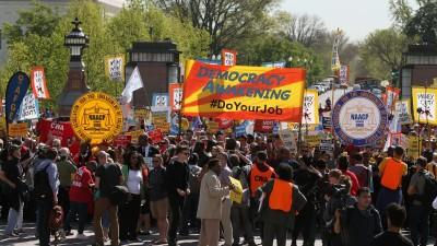 Democracy Awakening marchers at the U.S. Capitol