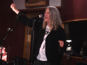 """Punk rock laureate Patti Smith performed her signature anthem """"The People Have the Power"""" at the Nader event. (Photo by Jamie McCarthy/Getty Images for Electric Lady)"""