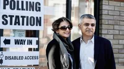 Sadiq Khan Casts his Vote In The London Mayoral Election