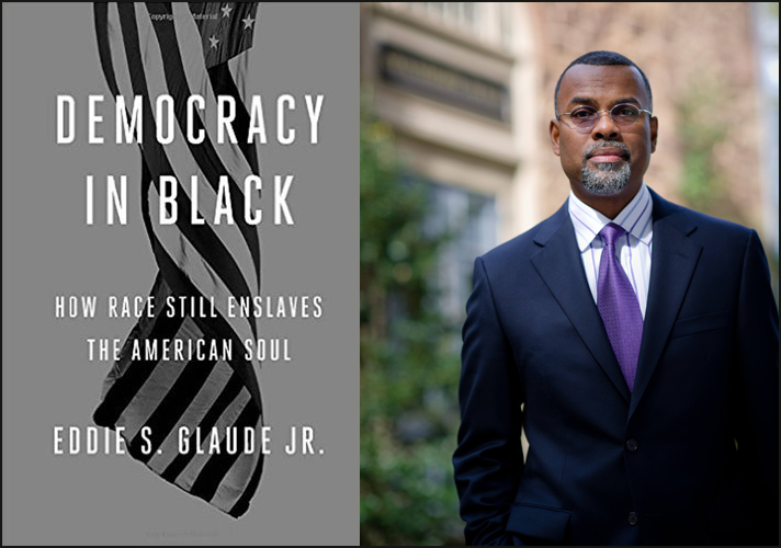 'Democracy in Black' book cover and Dr. Eddie Glaude, Jr.