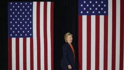 Democratic presidential candidate Hillary Clinton in San Diego, California, on June 2, where she delivered a major foreign-policy address. (Photo by David McNew/AFP/Getty Images)