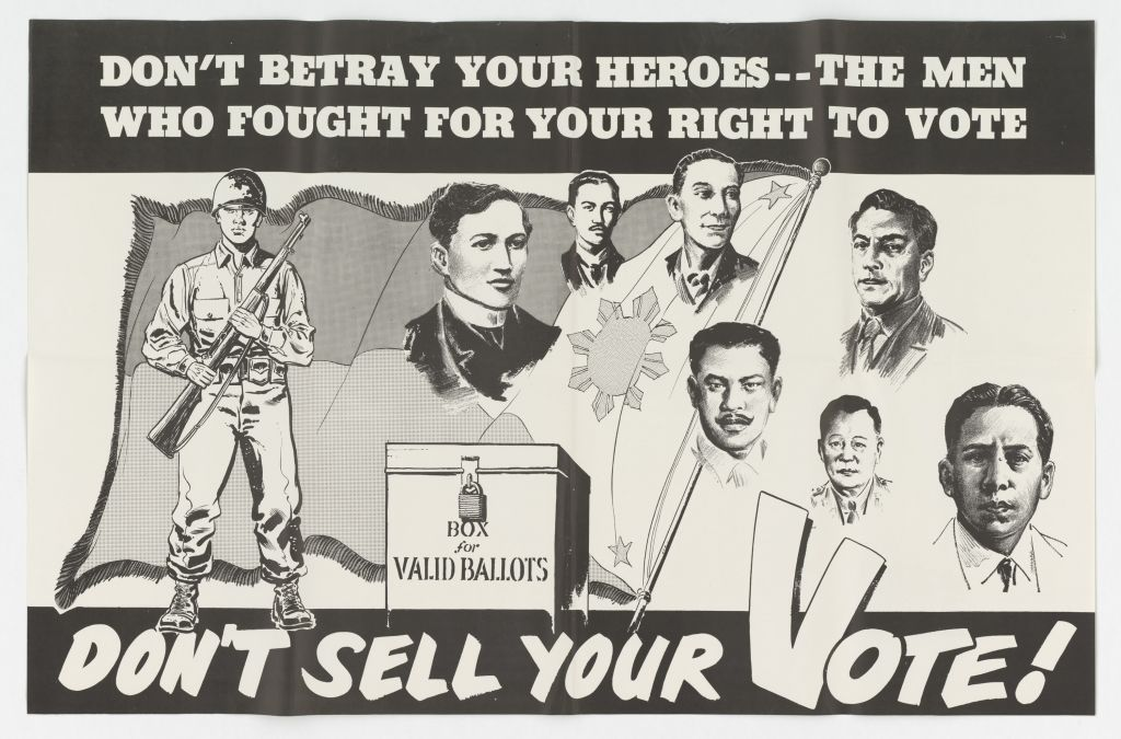 US Propaganda Poster distributed in Asia between 1950 and 1955.