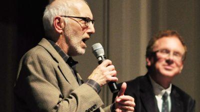 Former Seattle City Councilor Nick Licata, with progressive journalist John Nichols in 2015. (Photo by Joe Mabel / CC 3.0)
