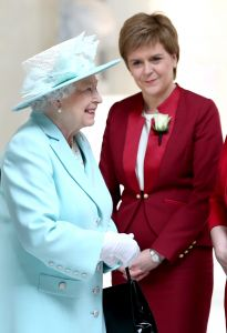 Queen Elizabeth of England  and Nicola Sturgeon