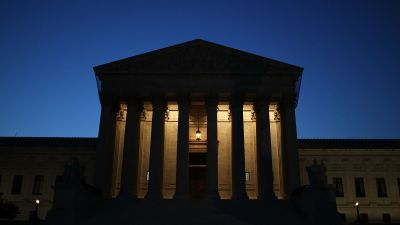 Supreme Court in darkness
