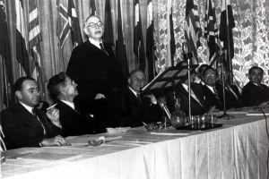 John Maynard Keynes speaks to the Bretton Woods conference in 1944